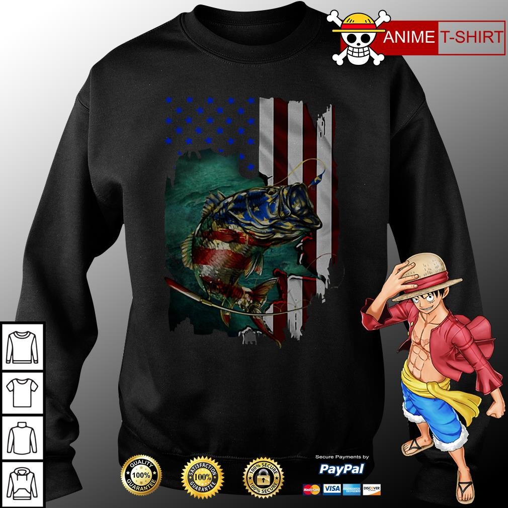 4th July Independence Day fishing sweater