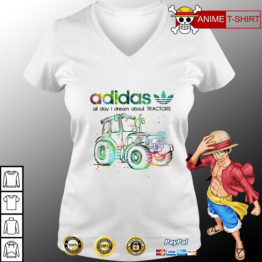 Adidas all day I dream about Tractors v-neck t-shirt
