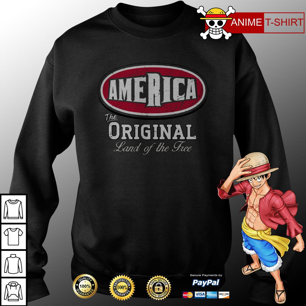 America the original land of the free sweater