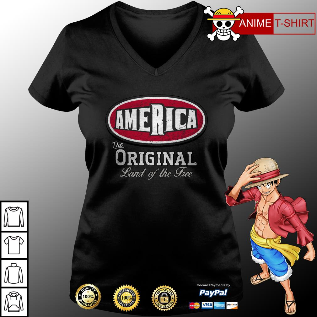 America the original land of the free v-neck t-shirt