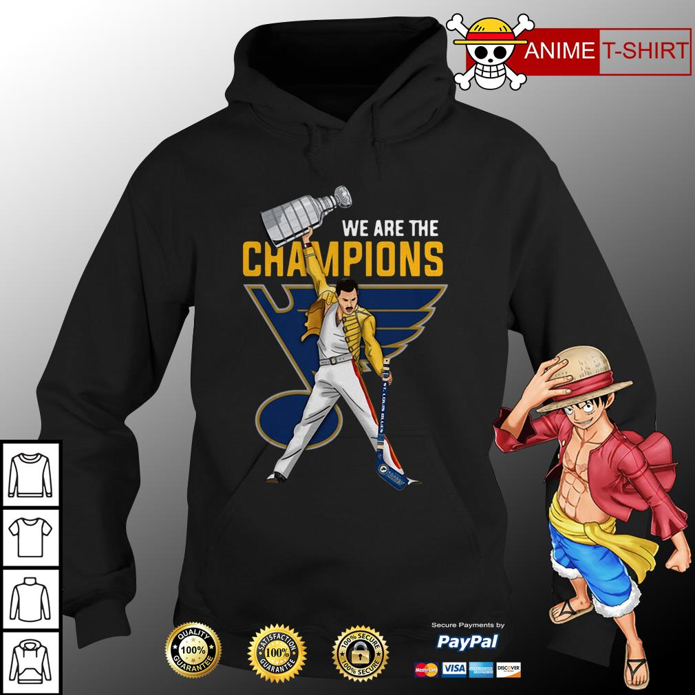 Freddie Mercury St. Louis We are the champions hoodie