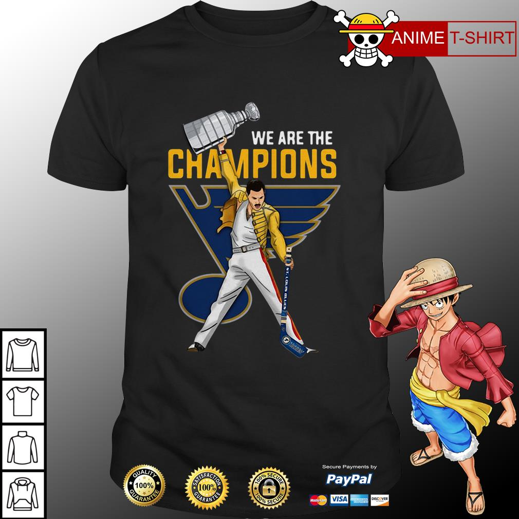 Freddie Mercury St. Louis We are the champions shirt