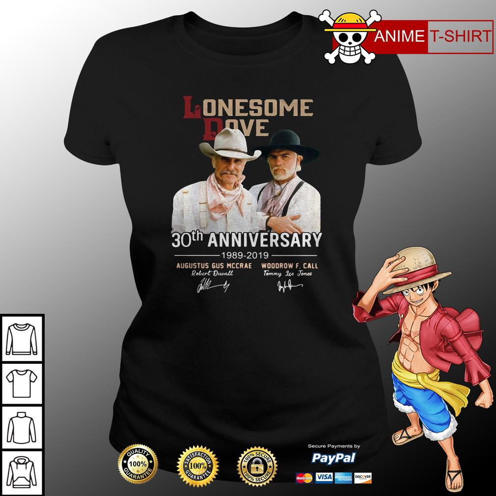 Lonesome Dove 30th anniversary signature ladies tee