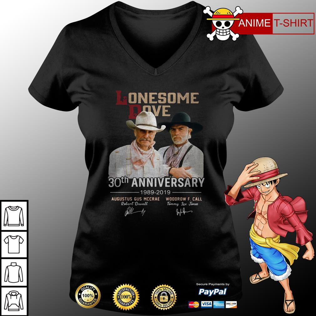 Lonesome Dove 30th anniversary signature v-neck t-shirt
