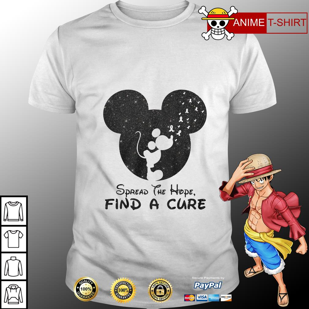 Mickey Mouse spread the hope find the cure shirt