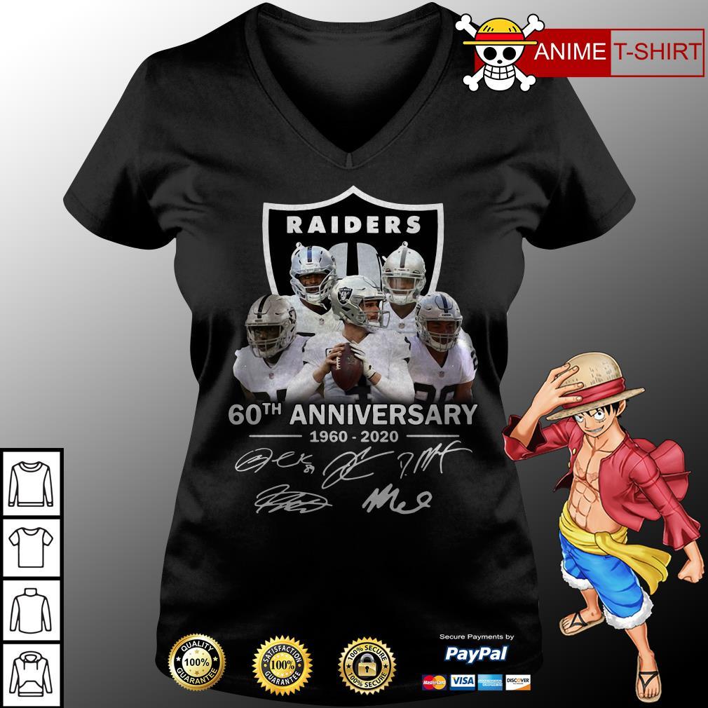 Raiders 60th Anniversary 1960 2020 v-neck t-shirt