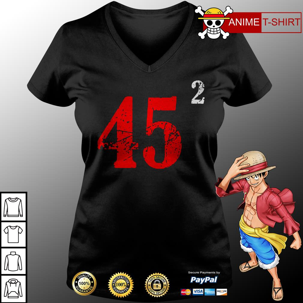 Trump 45 Trump 45 Squared v-neck t-shirt