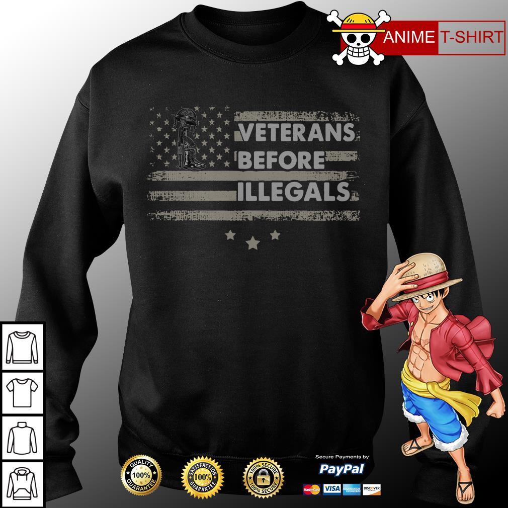 america veterans before illegals sweater