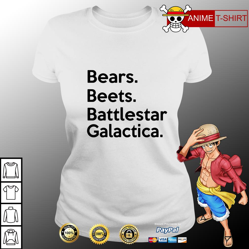 bears beets battlestar galactica ladies tee