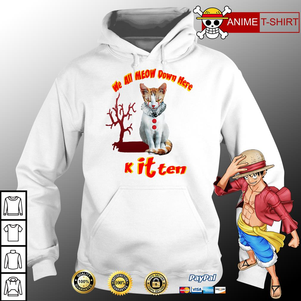 we all meow down here knit tee hoodie