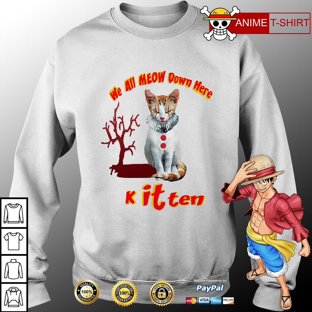 we all meow down here knit tee sweater