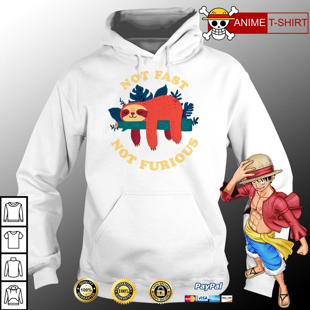Sloth not fast not furious hoodie