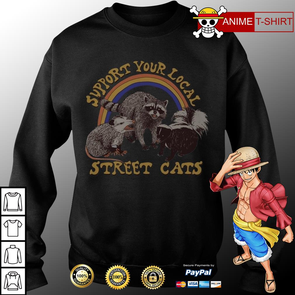 support your local street cats sweater