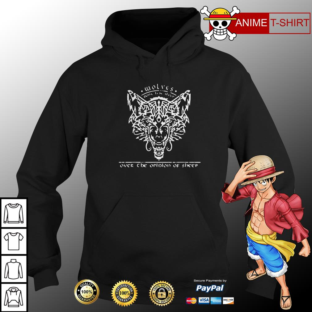 wolves over none lise sleer one prolon of sheep hoodie