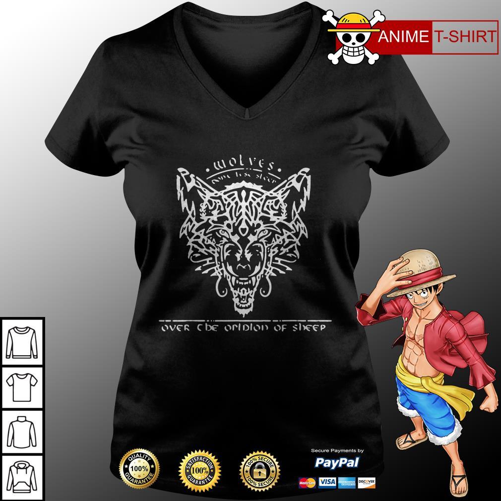 wolves over none lise sleer one prolon of sheep v-neck t-shirt