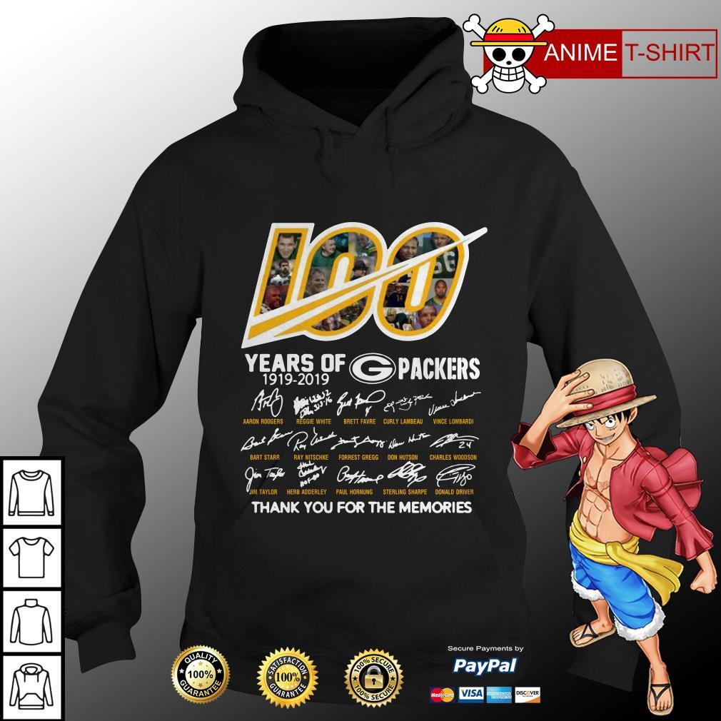 100 years of Packers signature hoodie