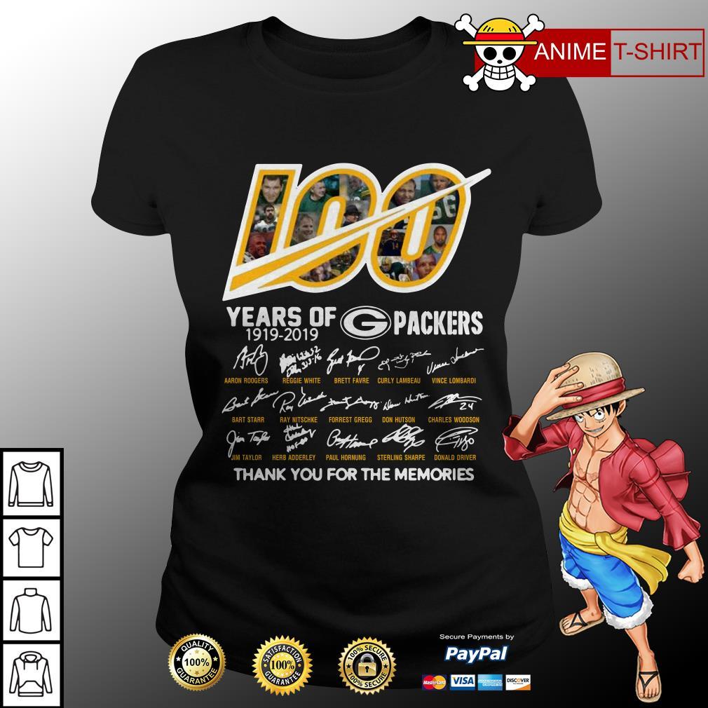 100 years of Packers signature ladies tee