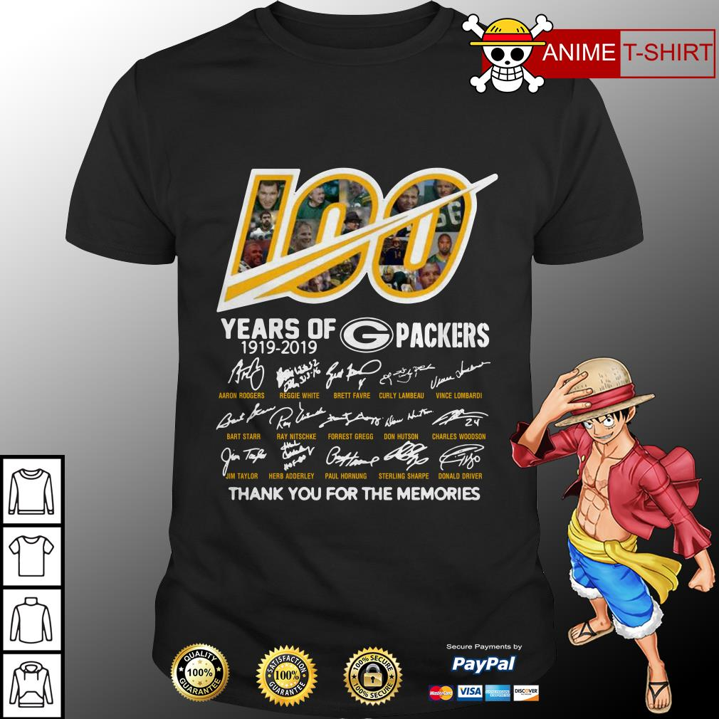 100 years of Packers signature shirt