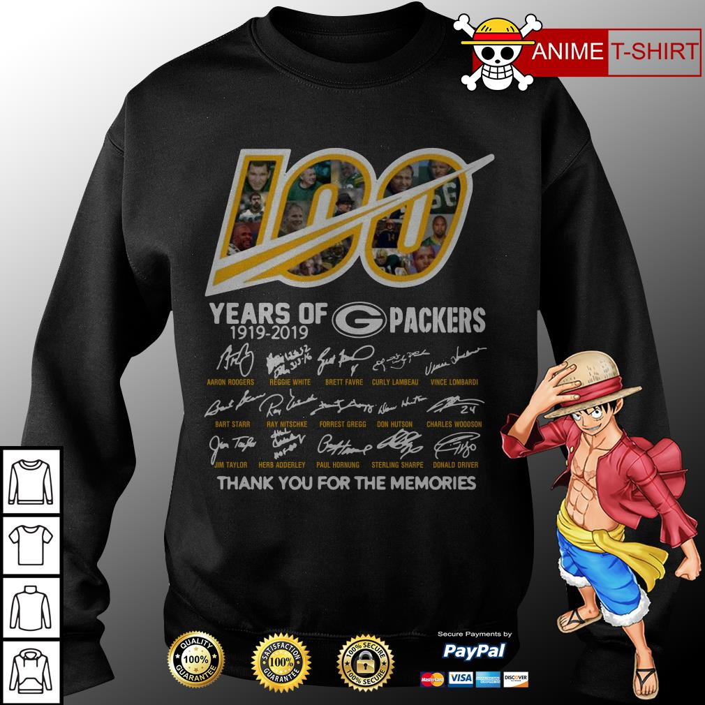 100 years of Packers signature sweater