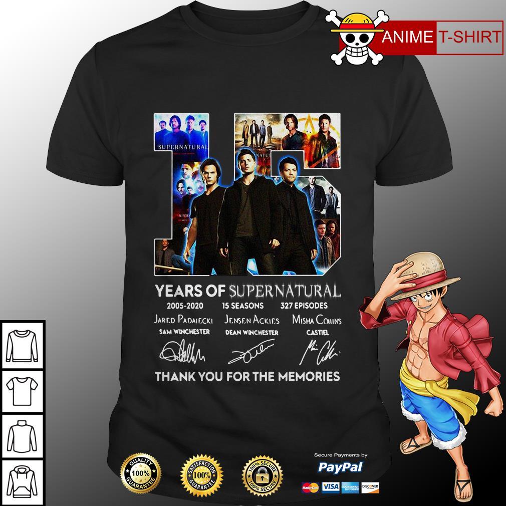 15 years of supernatural 2005-2020 shirt