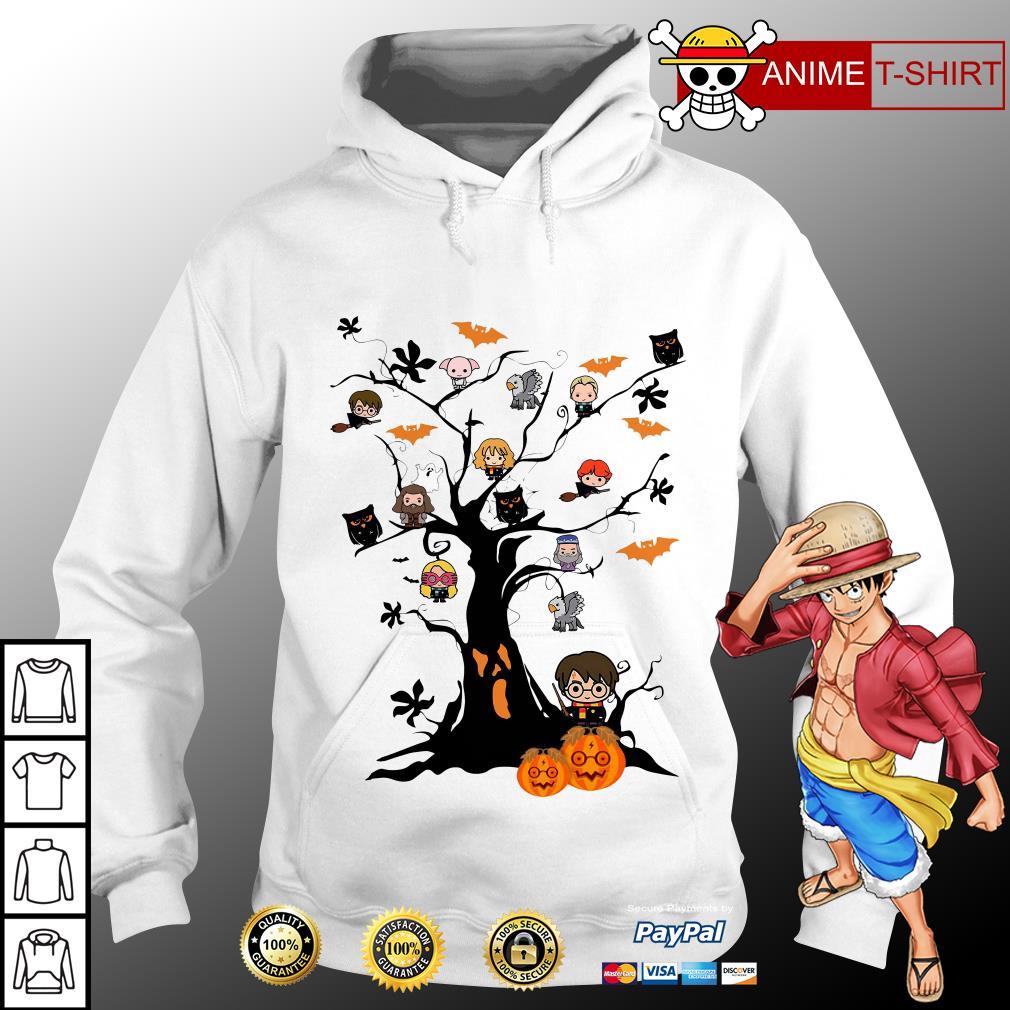 Harry potter chibi tree halloween hoodie