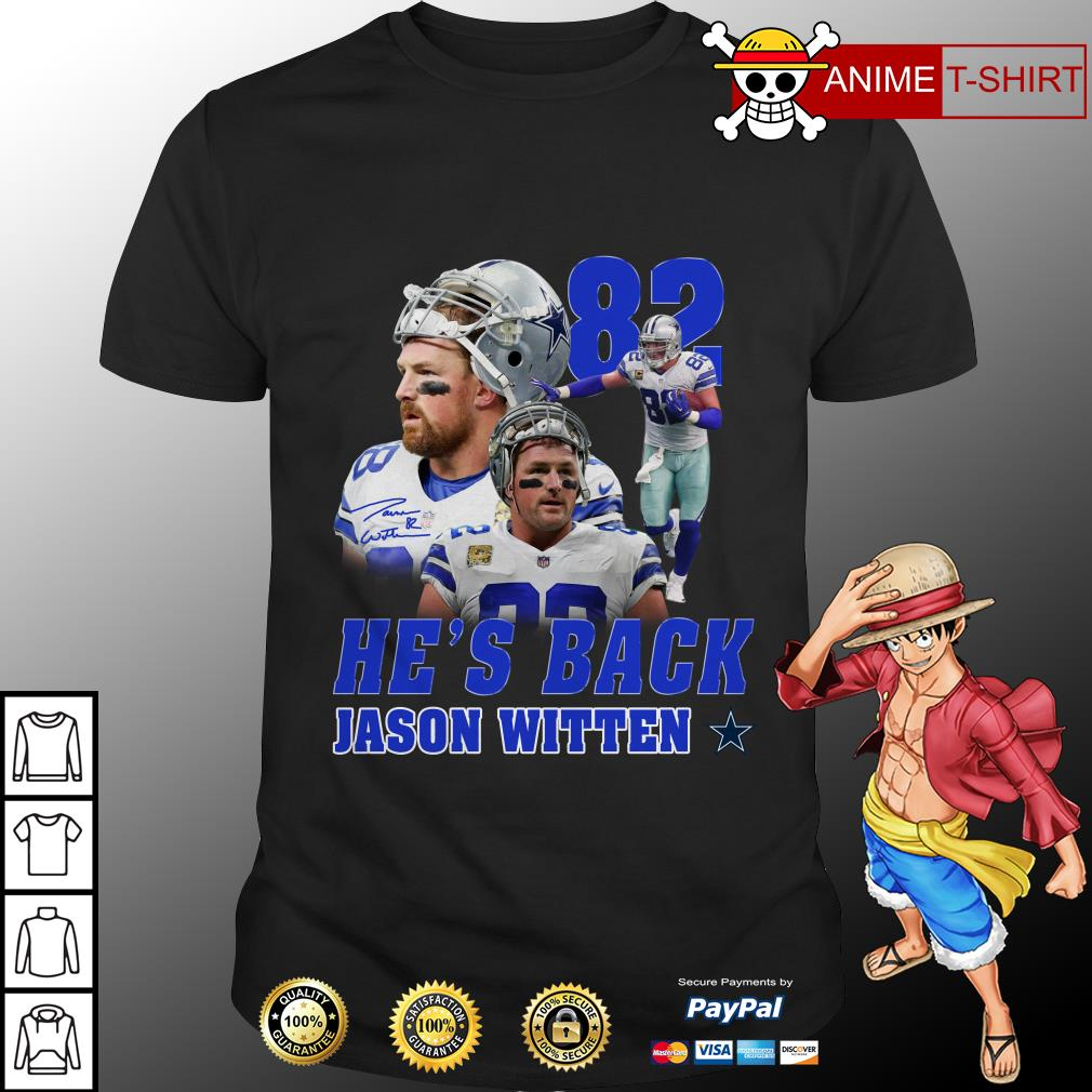 half off 53f51 0df20 Jason Witten Dallas Cowboys 82 he's back shirt
