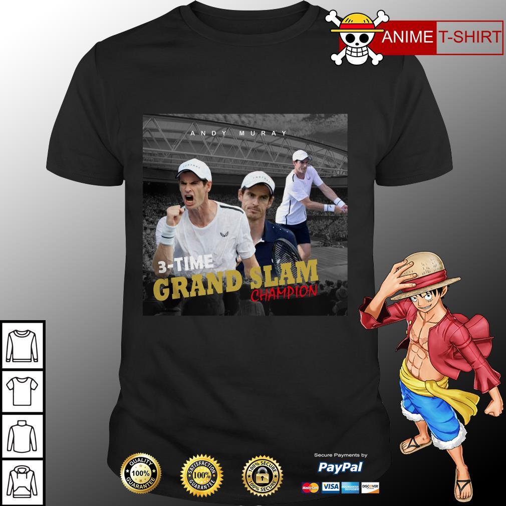 Andy Murray 3 time Grand Slam champion shirt