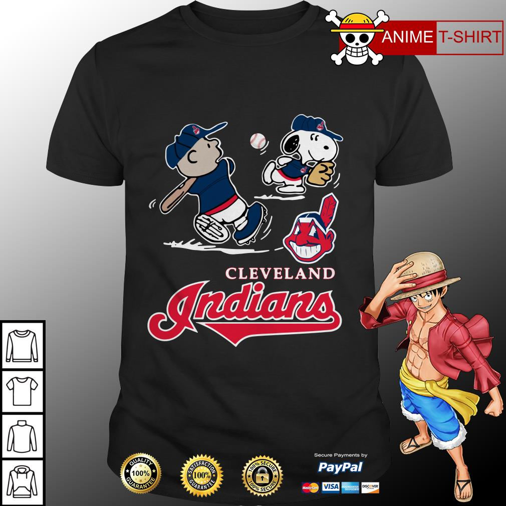 Charlie Brown Snoopy Cleveland Indians shirt