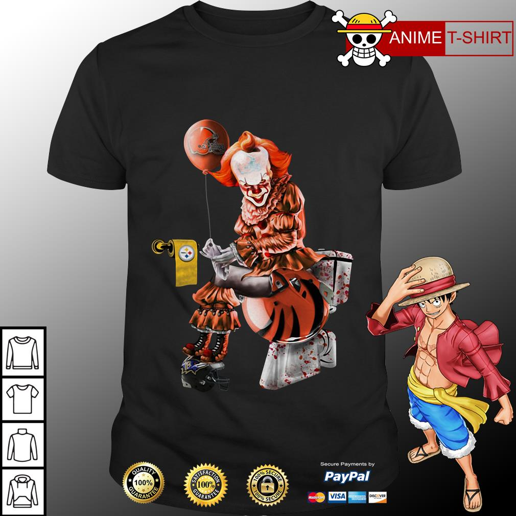 Cleveland Browns Pittsburgh Steelers Cincinnati Bengals Pennywise toilet shirt