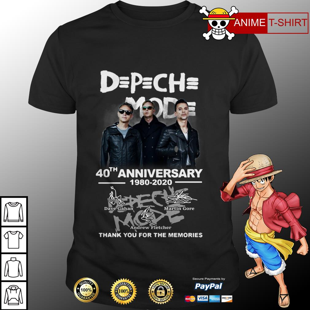 DPCH MOD 40th anniversary 1980-2020 thank you for the memories shirt
