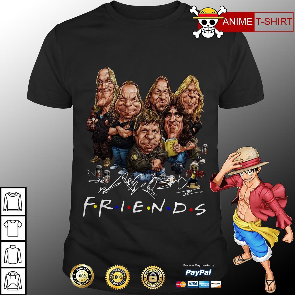 Iron Maiden cartoon friends tv show signature shirt