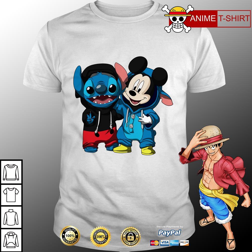 Mickey and stitch disney shirt