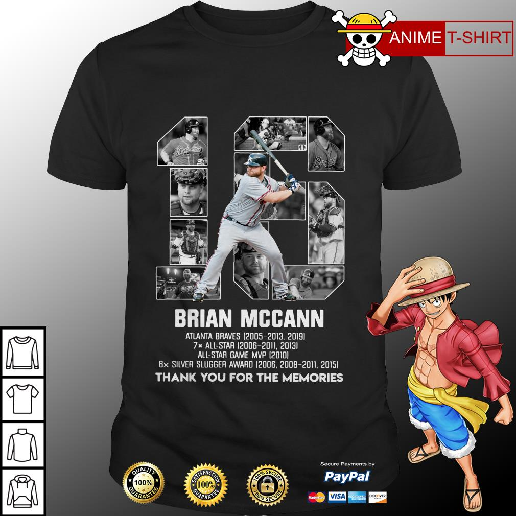 16 Brian Mccann Atlanta braves All star All star game shirt