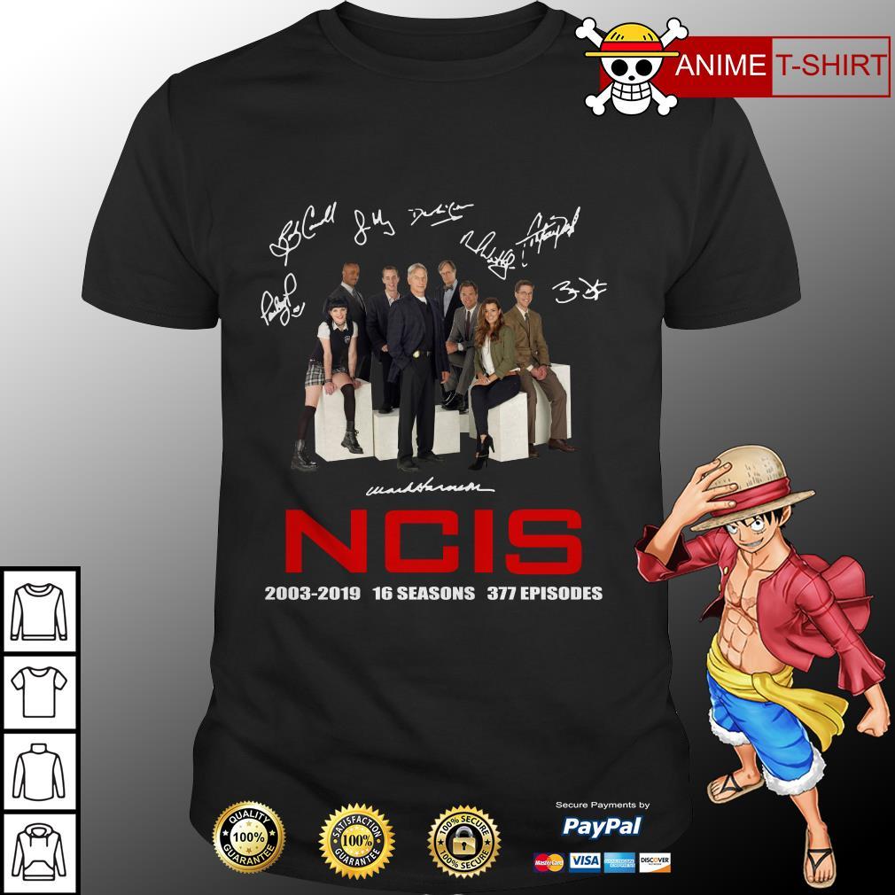 16 Years Of Ncis 2003-2019 Signature Shirt