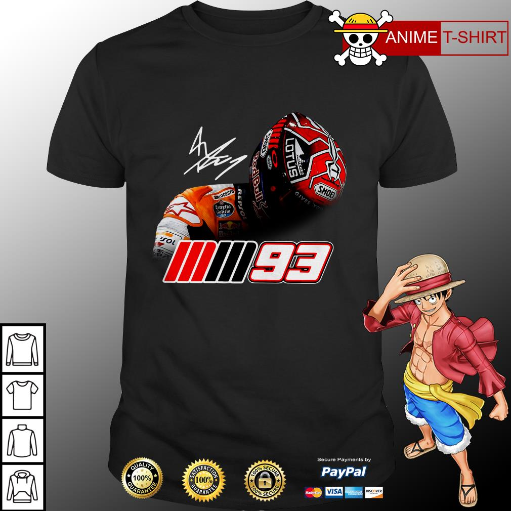 Logo of Marc Marquez MM93 signature shirt