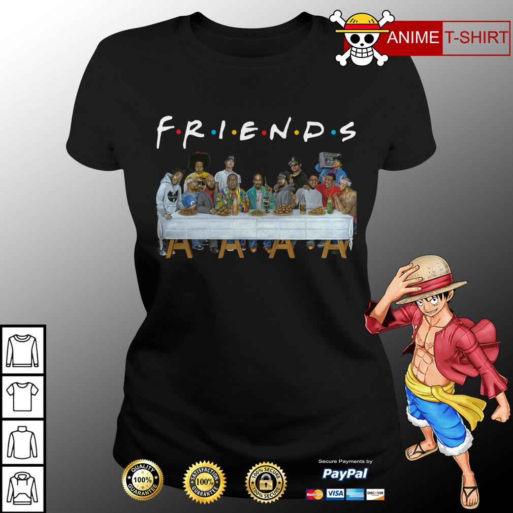 Nice Legends Rapper's Last Supper Friends ladies tee