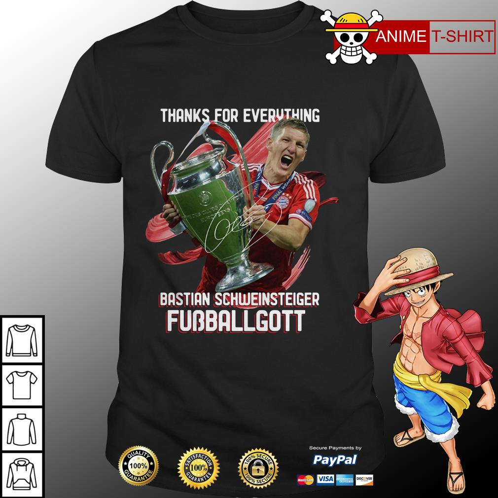 Official Thanks for everything Bastian Schweinsteiger Fubballgott shirt