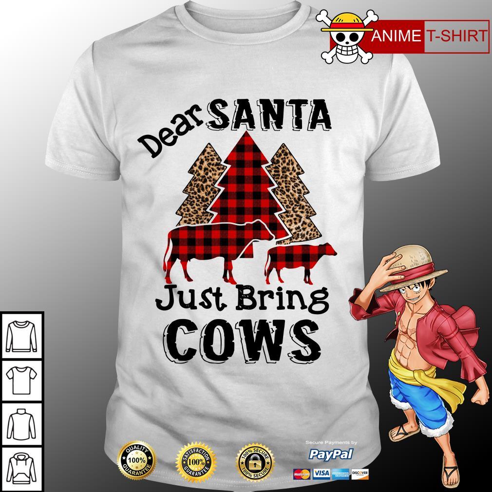 Dear Santa just bring cows Christmas tree shirt