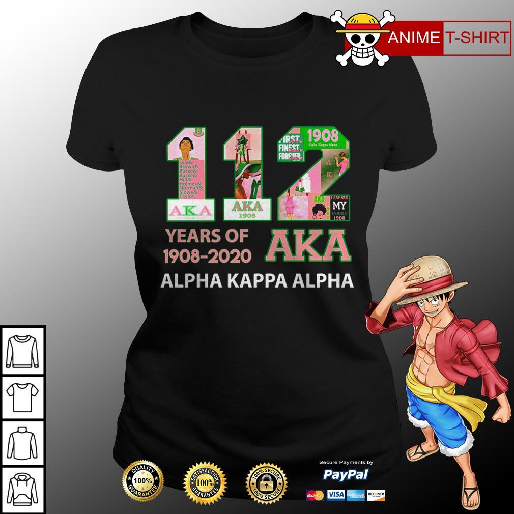 112 years of 1908 2020 Aka ladies tee