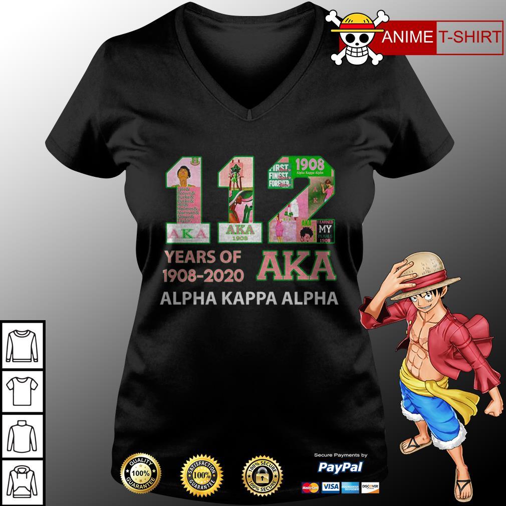 112 years of 1908 2020 Aka v-neck t-shirt