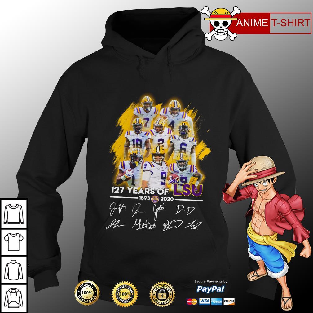 127 years of LSU Tigers signature hoodie