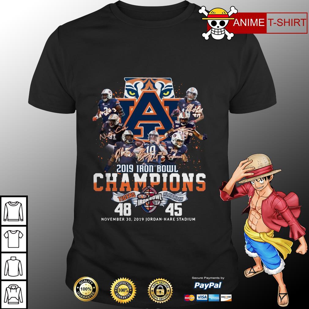 2019 Iron Bowl Champions Signature Auburn Tigers Logo shirt