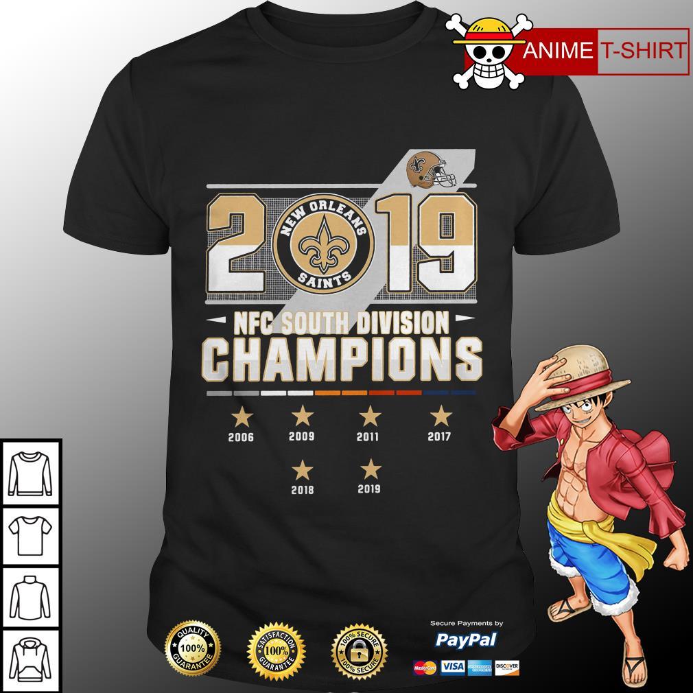 2019 New Orleans Saints NFC South Division Champions shirt