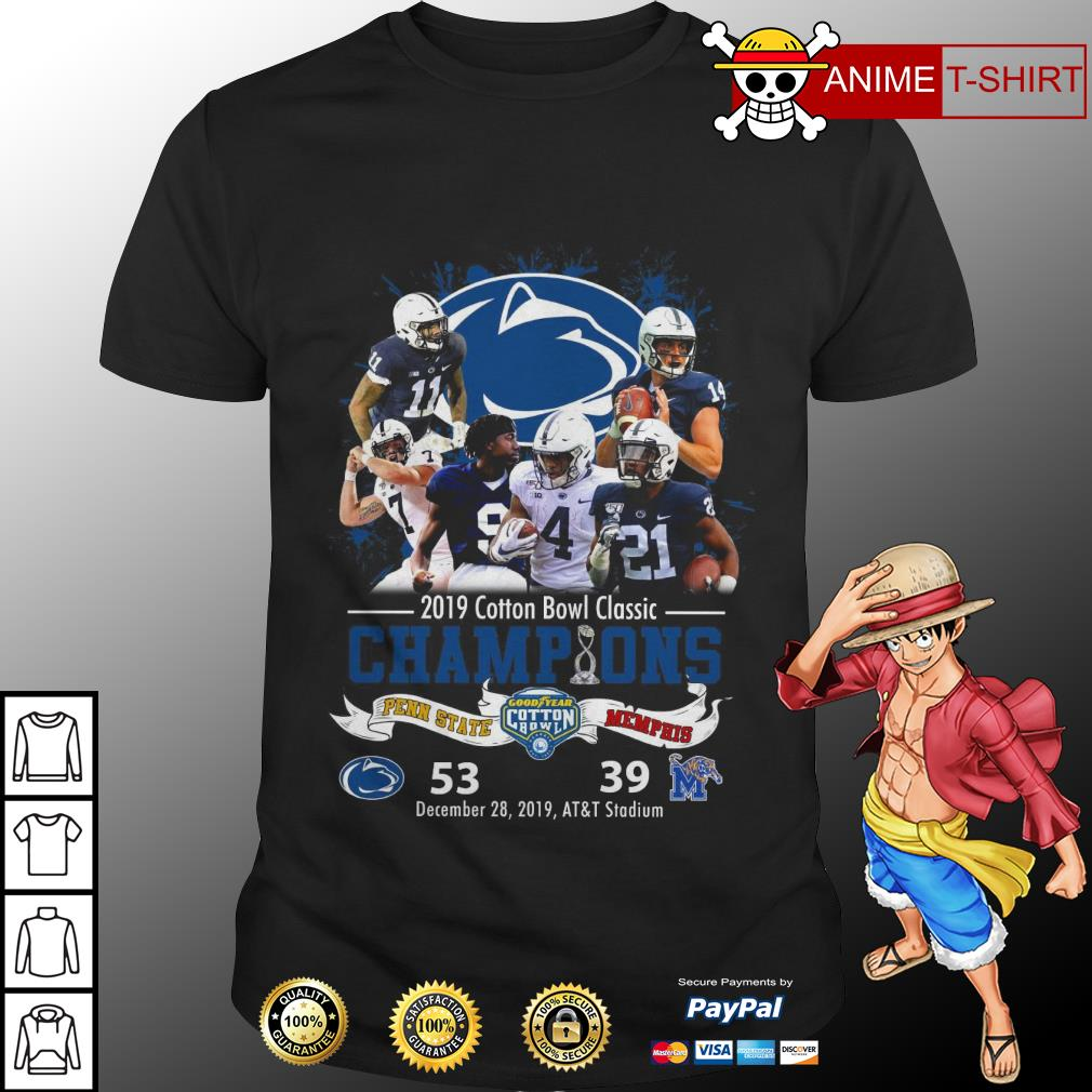 2019 cotton bowl classic champions penn state shirt