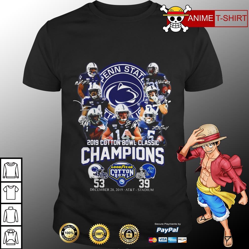 2019 cotton bowl classic champions signature shirt