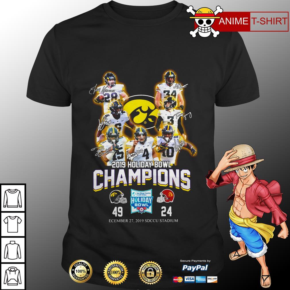 2019 holiday bowl champions signature shirt