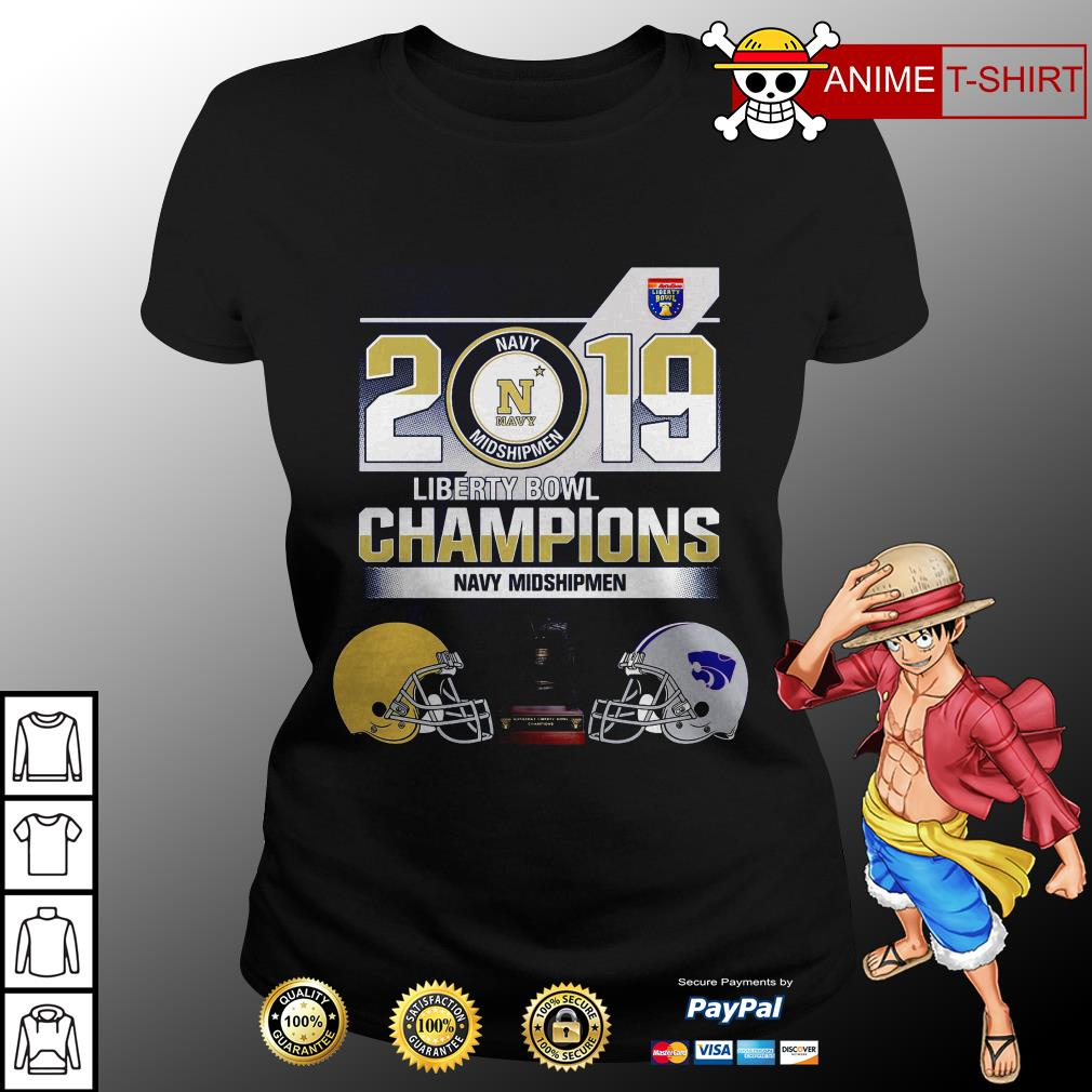 2019 Liberty Bowl Champions Navy Midshipmen ladies tee