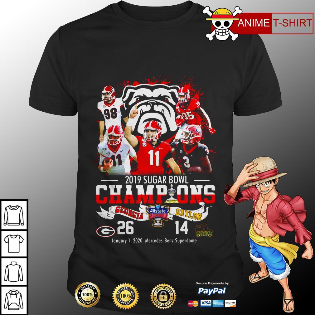 2019 Sugar Bowl Champions Georgia Bulldogs Baylor Bears shirt