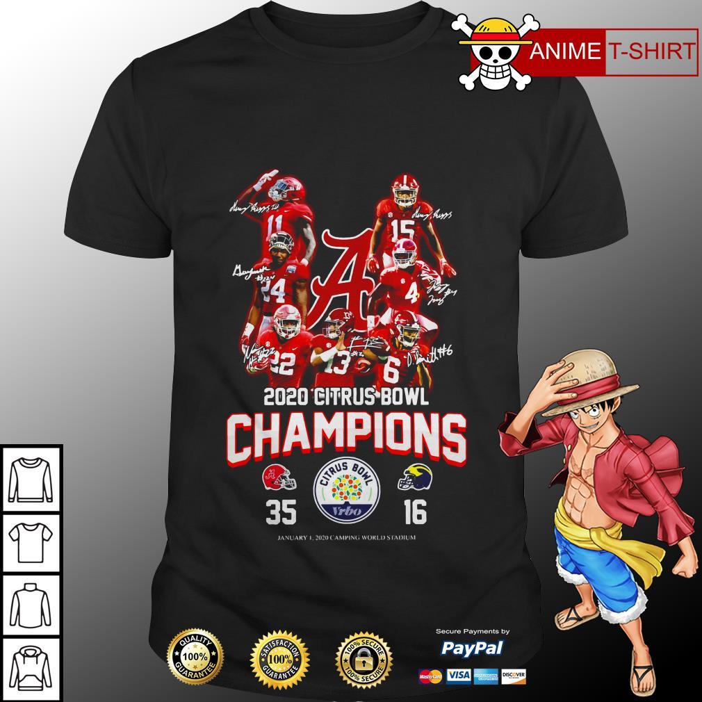 2020 Citrus bowl champions signature shirt