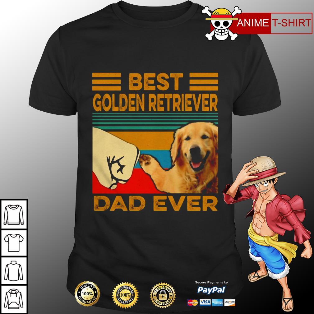 Best Golden retriever dad vintage shirt